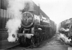 img063 (OldRailPics) Tags: british railways steam locomotive crewe north 70000 britannia