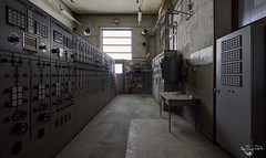 Take the risk or lose the chance. (Left in the Lurch) Tags: urbex abandoned powerplant controlpanel industry factory