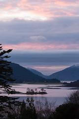 Loch Leven towards Ardnamurchan, Locaber, Scotland (David May) Tags: glencoe carnach ballachulish lochaber highlands bridge ardnamurchan mountain winter glow gloaming