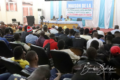 Crédit photo © Boub´s SiDiBÉ. Conférence de presse du candidat Mamoutou TOURE dit Bavieux en lice pour la présidence de la FEMAFOOT et de son équipe de campagne