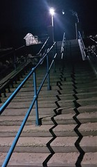 Zig-Zag Stairway From Newbiggin Beach (Gilli8888) Tags: cameraphone samsung galaxy s7 newbigginbythesea newbiggin northumberland night nightshots nightlights stairs stairway staircase steps zigzag railings linear shadow