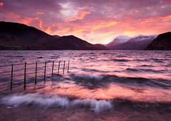 Ennerdale sunrise 3 (Alf Branch) Tags: ennerdalewater ennerdale westcumbria water waves wave landscape lakes lakedistrict lake lakesdistrict leicadg818mmf284 mountains sunrise morning westernlakes winter windy alfbranch olympus omd olympusomdem5mkii