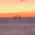 Fishing structures in Bacolod during sunset thumbnail