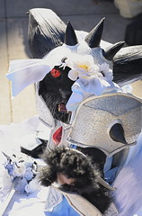 ncc2018-2586 (skippyclese) Tags: nccomicon comicon nc 2018 con convention anime comics japan cosplay cosplayer costume cat princess sword dress eye fur sunlight outside outdoors portrait north carolina durham nikon d810 sigma art 85