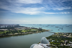 Land and Water (Terra Firma Productions) Tags: photography photo landscape landscapes landscapephotography landscapephoto building buildings sea seas ocean oceans water cloud clouds boat boats singapore sony sonya7 sonya7ii adobe adobephotoshop adobelightroom photoshop lightroom sonyalpha travel tamron marinabay marinabaysands river rivers