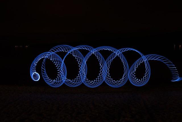Обои спираль, светографика, синий картинки на рабочий стол, фото скачать бесплатно