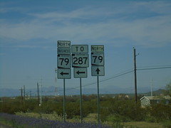 AZ-79 North at Bus. AZ-79/AZ-287 (sagebrushgis) Tags: businessaz79florence az79 az287 florence arizona sign intersection shield