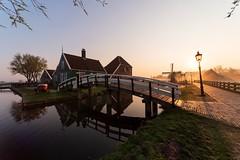 Zaanse Schans sunrise, Holland (angheloflores) Tags: zaanseschans sunrise colors village countryside windmills landscape urban explore netherlands wideangle nikkor14mm noordholland zaandam