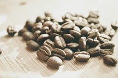 coffee beans on brown surface - Credit to https://myfriendscoffee.com/ (John Beans) Tags: coffee coffeebean roast aroma cafe coffeebeans shopbeans espresso coffeecup cup drink