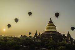 Balloons over Bagan, Myanmar (nhphoto1954) Tags: leecarvalho asia southeastasia myanmar bagan balloons hotairballoon temple stupa pagoda sunrise sunset