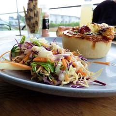 At Kreem in Henderson (Sandy Austin) Tags: panasoniclumixdmcfz70 sandyaustin henderson westauckland auckland northisland newzealand food kreem cafe salad quiche chicken caramalisedonion