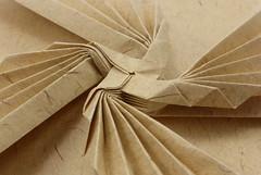 Blazing Propellers Tessellation molecule (30×30) — side view (Michał Kosmulski) Tags: origami tessellation molecule propeller whirlwind whirlpool pinwheel flame blaze michałkosmulski kaiserstarkpaper beige