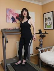 Work it (Joanne (Hay Llamas!)) Tags: transgender shemale genderfluid genderqueer tg brunette tgirl gurl cute uk brit british britgirl sporty sports treadmill