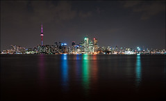 toronto_from_island_night_long-exposure_01_8773813473_o (wvs) Tags: centre city cn cntower downtown island lake longexposure night towers ward water toronto ontario canada can