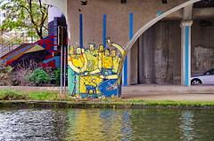 77 Paris décembre 2018 - canal Saint-Denis, sous le pont de l'autoroute A86 à Saint-Denis (paspog) Tags: paris france saintdenis canal kanal canalsaintdenis streetart fresque fresques mural murals tags graffitis décembre december dezember 2018