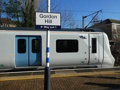 717003-GordonHill-P1531392 (citytransportinfo) Tags: 717003 siemens desirocity train railway greatnorthern station gordonhill sunshine bluesky winter class717
