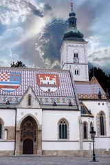(Yvan Rouxel) Tags: churchofstmark cityofzagreb croatia january saintmarkschurch stmarkschurch wpcroatia winter zagreb hrv