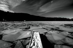 In the ice ... (milance1965) Tags: wasser schwarzweiss kärnten österreich millstättersee blackwhite steg nikon nikond7000 sigma 816 landschaft