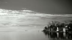 Indian Cove Houses on LI Sound (See ericgrossphotography.com) Tags: barbarapinebeach daniel cove longislandsound connecticut landscape sea coast light clouds sky quiet serene tranquil atmosphere