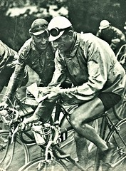 "1936 TDF ""Look, Sylvère, It's all in the Miroir!"" (Sallanches 1964) Tags: tourdefrance 1936 antoninmagne sylvèremaes tourdefrancewinners roadcycling lagrandeboucle heroictimes miroirdessports"