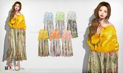 {amiable}Loose Cardigan with Flower Tulle Skirt@ N°21 February(50%OFF SALE). (nodoka Vella) Tags: n21 sl secondlife sale event discount new skirt flower dress cardigan nodoka amiable {amiable} maitreya tmp belleza slink n°21 セール セカンドライフ メッシュ マイトレイヤ カーディガン ニット knit top slblogger slfashion スカート 半額 freya isis venus hourglass physique lala classic original nocustomwork