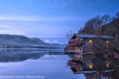 boat house (stephencooper07) Tags: boathouse ullswater sunrise reflections fujiuk haida lakes water mountains