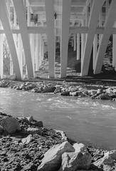 19-02-22-05_OM_40mm (dvpalumbo) Tags: film panf panf50 landscape bw blackandwhite river bridge symetry olympus om1