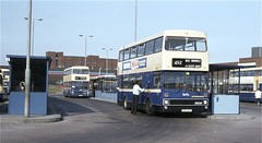 West Midlands PTE 2064, West Bromwich Bus Station, 1984 (Lady Wulfrun) Tags: bok64v 2064 radiatoor overheating wmpte bus mcw metrobus 452 service route