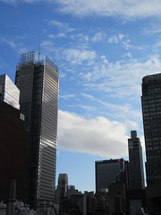 2019 February Building Cloud Reflection 2577 (Brechtbug) Tags: 2019 february afternoon light again virtual clock tower from hells kitchen clinton near times square broadway nyc 02272019 new york city midtown manhattan winter weather building breezy cloud hell s nemo southern view