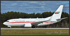 A6-HRS UAE United Arab Emirates (Bob Garrard) Tags: a6hrs uae united arab emirates boeing 737 dubai air wing royal flight bwi kbwi