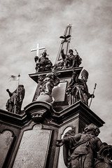 Epic (denis_lapin) Tags: monument canon 5d marii yongnuo 35mm prague praha bw sepia city point view