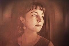 lost in thoughts (gotan-da) Tags: model modelo female femme frau woman compositing digital art texture girl belle bellezza