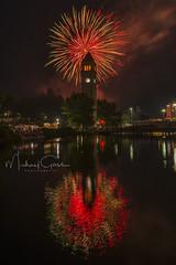 Happy New Year (NikonDigifan) Tags: fireworks 4thofjuly riverfrontpark greatnorthernclocktower reflection nightphotography night spokane spokanewashington spokaneriver nikond750 tamron tamron1530 mikegassphotography
