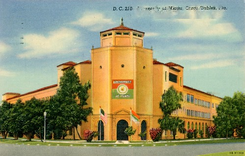University Of Miami Coral Gables Vintage Postcard