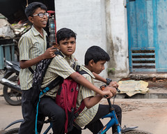 Bike Share, Kochi (Geraint Rowland Photography) Tags: india streetphotography fortkochi kerala cycle cycling ride riding bike bikephotography bicycle children school modesoftransport editorialphotos documentaryphotos travelportraits wwwgeraintrowlandcouk