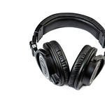 Black Studio Headphones above white background thumbnail