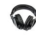 Black Studio Headphones above white background
