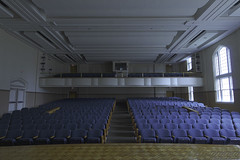 Chambers_McCray_Architecture5 (Lindsey Chambers) Tags: pittsburg state university gorillas kansas mccray music auditorium seats balcony stage blue aisle performance window