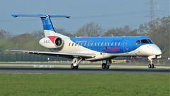 G-RJXC (AnDyMHoLdEn) Tags: loganair embraer egcc airport manchester manchesterairport 05r bmi