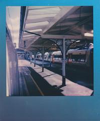 Train platform (Nanouf1973) Tags: london overground richmond platform train travel polaroid onestep instantphotography summerblues itype