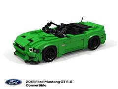 Ford Mustang 2018 5.0 GT Convertible (S550MCA) (lego911) Tags: ford mustang 2018 s550 s550mca gt v8 convertible softtop motor company auto car moc model miniland lego lego911 ldd render cad povray usa america american afol foitsop