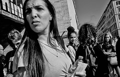 Am I that easy to forget... (Baz 120) Tags: candid candidstreet candidportrait city contrast street streetphotography streetphoto streetcandid streetportrait strangers rome roma ricohgrii europe women monochrome monotone mono noiretblanc bw blackandwhite urban life portrait people italy italia grittystreetphotography faces decisivemoment