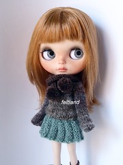Winter days ... (feltland) Tags: feltland blythe custom handmade knittingcrochet outfit craft doll muñeca boneca