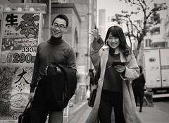 Happy together (Bill Morgan) Tags: fujifilm fuji xpro2 35mm f2 bw jpeg acros alienskin exposurex4