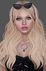 #446 (Violet Batriani | Blogger | Model) Tags: secondlife fashion blog blogger bento catya maitreya blonde sunglasses pretty beautiful