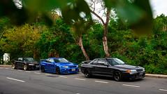 Three generations together (Aozaki Nico) Tags: nissan skylinegtr gtr skyline r32 r34 r33 rb26 turbo jdm supercar sportcar japanese car carspotting automotive automobile photography hongkong