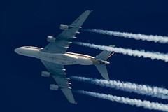 Singapore Airlines Airbus A380-841 9V-SKM (Thames Air) Tags: singapore airnlines airbus a380841 9vskm contrails contrailspotting