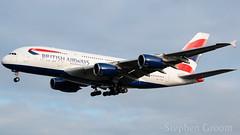 British Airways Airbus A380-841 G-XLEL (StephenG88) Tags: londonheathrowairport heathrow lhr egll 27r 27l 9r 9l boeing airbus january6th2019 6119 myrtleavenue britishairways ba baw speedbird a380 a388 a380800 a380841 gxlel