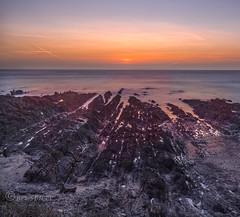 Filling the voids (Through Bri`s Lens) Tags: devon northdevon thepoint rocks sunset skies canon5dmk3 canon1635f4 brianspicer leereversegrad