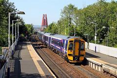 158741 170472 Dalmeny (CD Sansome) Tags: 158741 170472 170 158 spinter turbostar dalmeny station abellio scotrail scotland forth bridge first group train trains saltaire